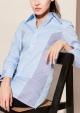 Le Gang - Céline - Chemise rayée - photo produit porté de profil