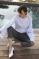 Le Gang - Isabel Marant Etoile  - Pantalon Noah  - photo produit porté de face