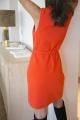 Le Gang - DIANE VON FURSTENBERG - Robe Sweater Wrap - photo produit porté de profil