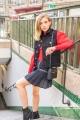 Le Gang - Isabel Marant - Jupe Navy Brodée - photo produit porté de dos