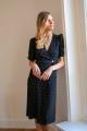 Le Gang - Rouje - Robe Rosalie Cerise - photo produit porté de dos