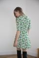 Le Gang - Arket - Robe Floral Wrap Dress Green - photo produit porté de dos