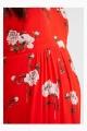 Le Gang - Ivy & Oak - Robe Rouge à Fleurs - photo produit porté de profil