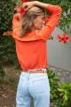 Le Gang - Vanessa Bruno - Top Loucia Corail - photo produit porté de dos