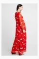 Le Gang - Ivy & Oak - Robe Rouge à Fleurs - photo produit porté de dos