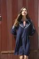Le Gang - Ba&sh - Robe Cale Marine - photo produit porté de face