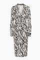 Le Gang - DIANE VON FURSTENBERG - Robe NEW JULIAN ZEBREE BLACK - photo produit non porté