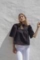 Le Gang - Isabel Marant - Top Black - photo produit porté de face