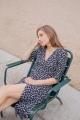 Le Gang - Ba&sh - Robe Coachella Noire - photo produit porté de face