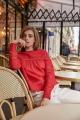 Le Gang - Isabel Marant - Top Rexton rouge - photo produit porté de face