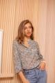 Le Gang - Isabel Marant - Top Maria Floral Bleu - photo produit porté de dos
