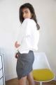 Le Gang - Calvin Klein - Pull White Flower - photo produit porté de profil