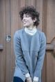 Le Gang - Tara Jarmon - Manteau Melanie Gris Souris - photo produit porté de dos