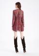 Le Gang - IRO - Robe Honess Bordeaux - photo produit porté de dos