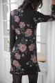 Le Gang - Pinko - Robe Georgette St Fiore - photo produit porté de profil