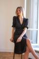 Le Gang - Rouje - Robe Rosalie Cerise - photo produit porté de profil