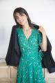 Le Gang - Sessun - Robe Wapi Menthol Henley - photo produit porté de face