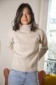 Le Gang - Maje - Pull à col roulé en laine - photo produit porté de face