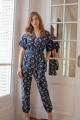 Le Gang - Ulla Johnson - Combinaison Bleu Foncé - photo produit porté de face