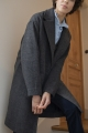 Le Gang - IRO - Manteau Wire Noir - photo produit non porté