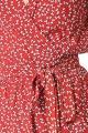 Le Gang - FAITHFULL THE LABEL - Robe Red Dress - photo produit porté de profil