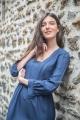 Le Gang - Tara Jarmon - Robe Maisa Indigo - photo produit porté de face