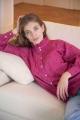 Le Gang - Soeur - Chemise Dorisse rose - photo produit porté de face