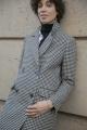 Le Gang - Idano - Manteau Pied de Poule - photo produit porté de dos