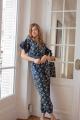 Le Gang - Ulla Johnson - Combinaison Bleu Foncé - photo produit porté de dos