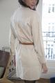 Le Gang - Isabel Marant - Robe Chemise Ecru - photo produit porté de dos
