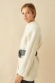 Le Gang - Ba&sh - Manteau  Clif Ecru - photo produit porté de face