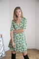 Le Gang - Arket - Robe Floral Wrap Dress Green - photo produit non porté