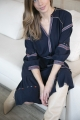 Le Gang - Ba&sh - Robe Patty Marine - photo produit porté de face