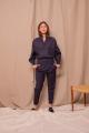 Le Gang - Soeur - Top Betty bleu marine - photo produit porté de face