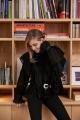 Le Gang - Magali Pascal - Top Amelia noir - photo produit porté de face
