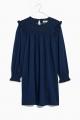 Le Gang - Madewell - Robe Indigo Ruffle Neck Smocked Babydoll - photo produit non porté
