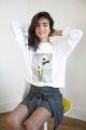 Le Gang - Calvin Klein - Pull White Flower - photo produit porté de dos
