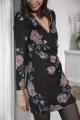Le Gang - Pinko - Robe Georgette St Fiore - photo produit porté de dos
