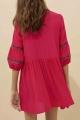 Le Gang - Ba&sh - Robe Cale Rouge - photo produit porté de profil
