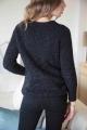 Le Gang - Laurence Bras - Pull Pasta noir - photo produit porté de dos