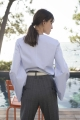 Le Gang - Céline - Blouse à rayures - photo produit porté de dos