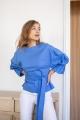 Le Gang - Kitri - Top Tessa Bubble bleu - photo produit porté de dos