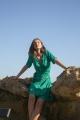 Le Gang - Sessun - Robe Wapi Menthol Henley - photo produit porté de dos