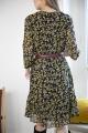 Le Gang - Ganni - Robe Georgette - photo produit porté de dos