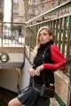 Le Gang - Isabel Marant - Jupe Navy Brodée - photo produit porté de face