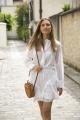 Le Gang - Isabel Marant - Chemise Valda blanche - photo produit porté de dos