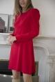 Le Gang - Tara Jarmon - Robe Carla Rouge - photo produit porté de dos