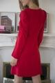Le Gang - Tara Jarmon - Robe Carla Rouge - photo produit porté de profil