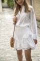 Le Gang - Isabel Marant - Chemise Valda blanche - photo produit porté de face