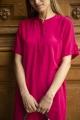 Le Gang - Sézane - Robe Zoé Fuchsia - photo produit porté de dos